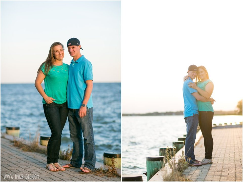 Quiet Waters Park Sunset Engagement Photos  •  tPoz Photography  •  www.tpozphoto.com