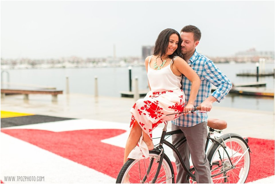 Love on a Bicycle - Tide Point Engagement Session •  tPoz Photography  •  www.tpozphoto.com