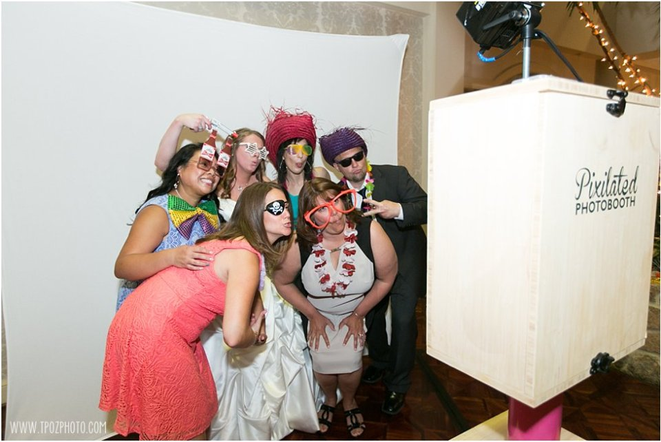 Pixilated Photobooth Wedding Reception at Hillendale Country Club  •  tPoz Photography  •  www.tpozphoto.com
