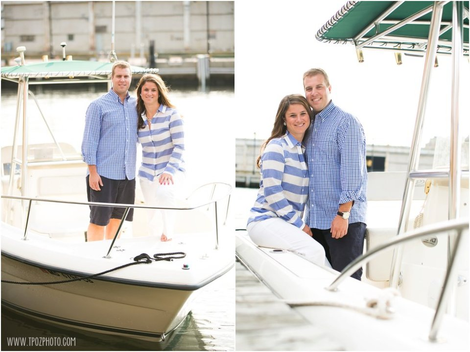 Engagement Photos on a boat  •  tPoz Photography  •  www.tpozphoto.com