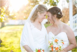 Lesbian Wedding at The Oaks Waterfront Inn in St. Michael's