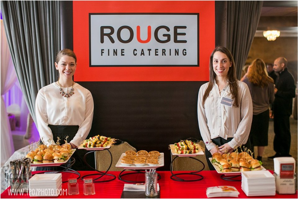 Rouge Fine Catering - Baltimore Bride Aisle Style January 2015  •  tPoz Photography  •  www.tpozphoto.com