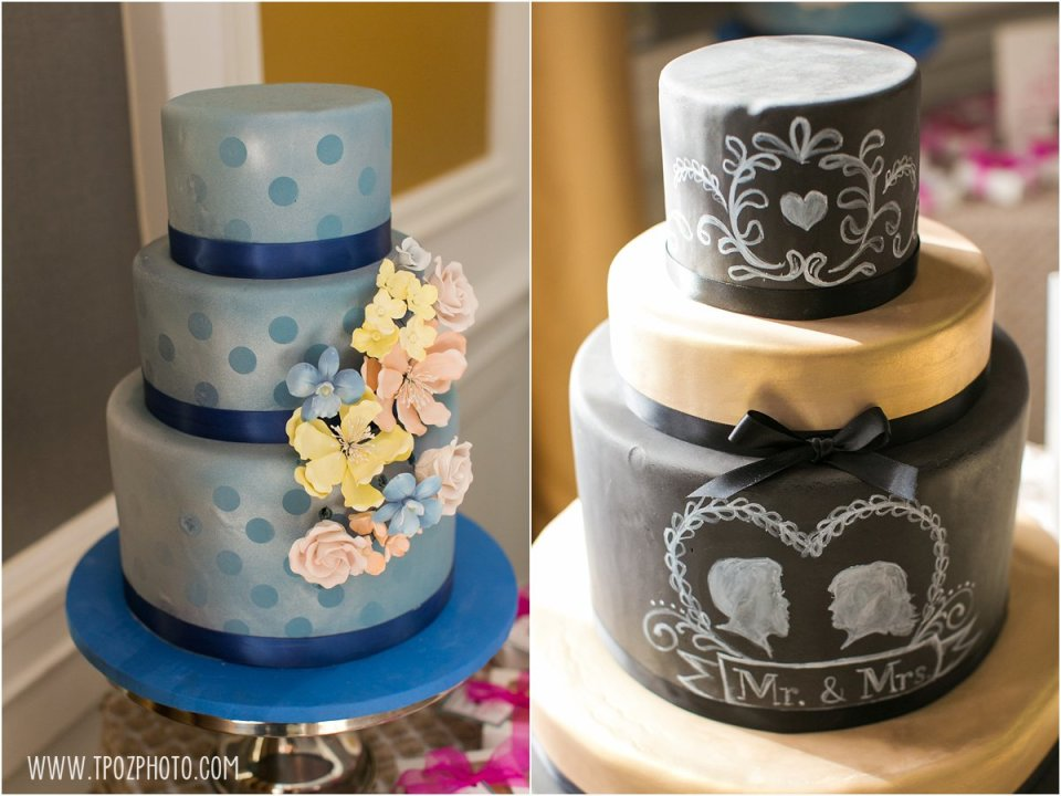 Sugarbakers Cakes - Baltimore Bride Aisle Style Event January 2015  •  tPoz Photography  •  www.tpozphoto.com