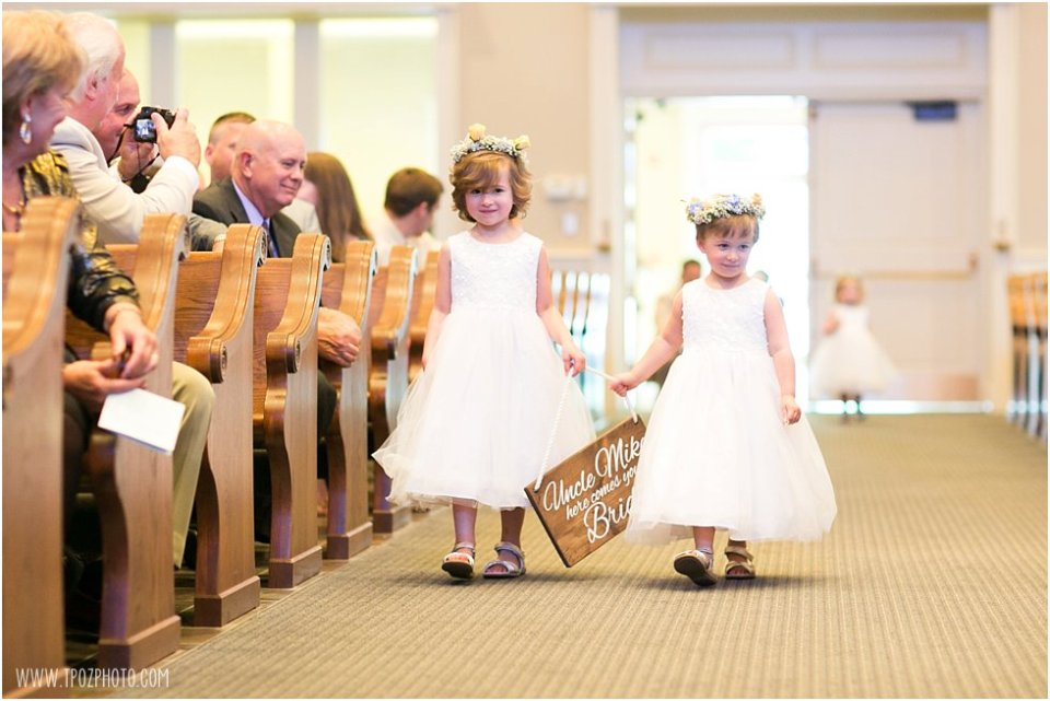 Wedding Ceremony at St. Christopher's Church Stevensville • tPoz Photography • www.tpozphoto.com