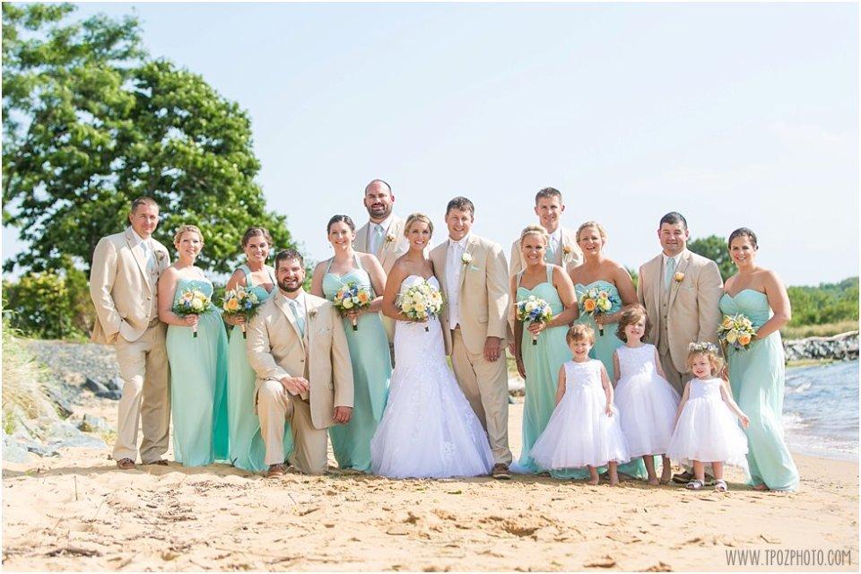 Chesapeake Bay Beach Club Wedding Bridal Party • tPoz Photography • www.tpozphoto.com