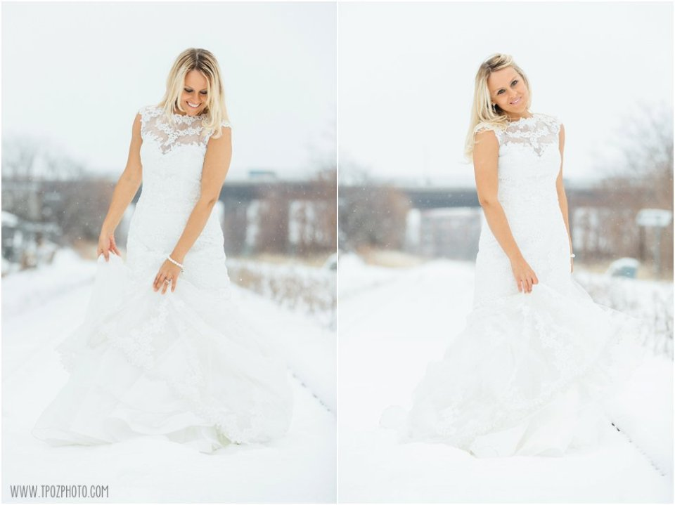 Snow Wedding Fun in Baltimore •  tPoz Photography •  www.tpozphotoblog.com