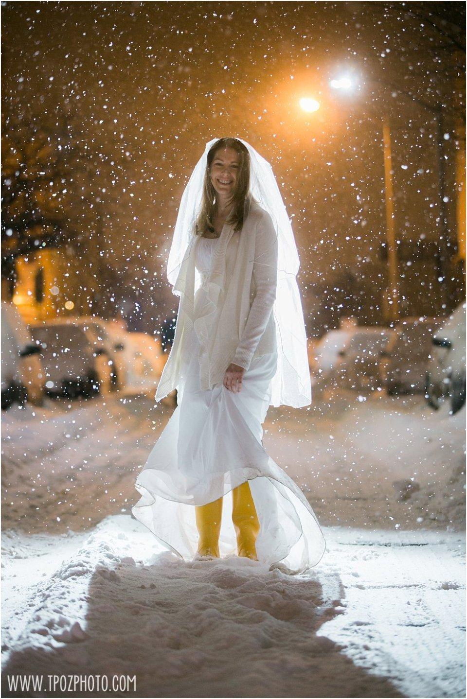 Snow Wedding Fun in Baltimore • tPoz Photography • www.tpozphotoblog.com
