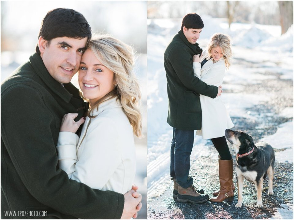 Snowy Cockeysville Engagement Photos •  tPoz Photography • www.tpozphoto.com