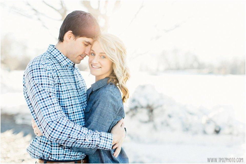 Snowy Cockeysville Engagement Photos • tPoz Photography • www.tpozphoto.com