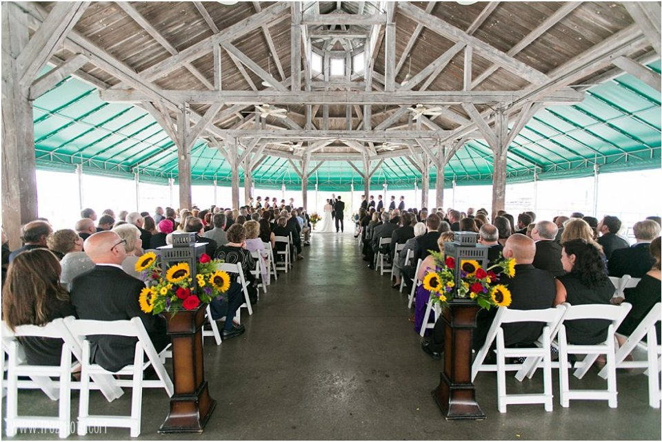 Ceremony under the Pavilion at the Baltimore Museum of Industry