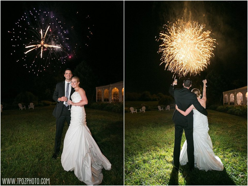 Stone Manor Country Club Wedding Fireworks || tPoz Photography || www.tpozphotoblog.com