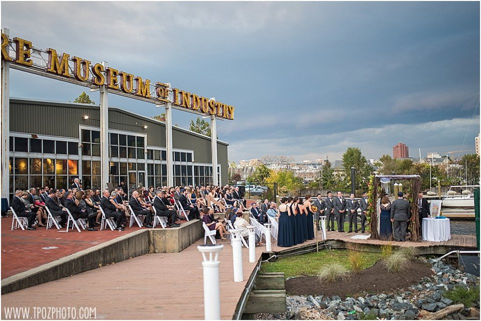 Fall Baltimore Museum of Industry Wedding || tPoz Photography || www.tpozphoto.com