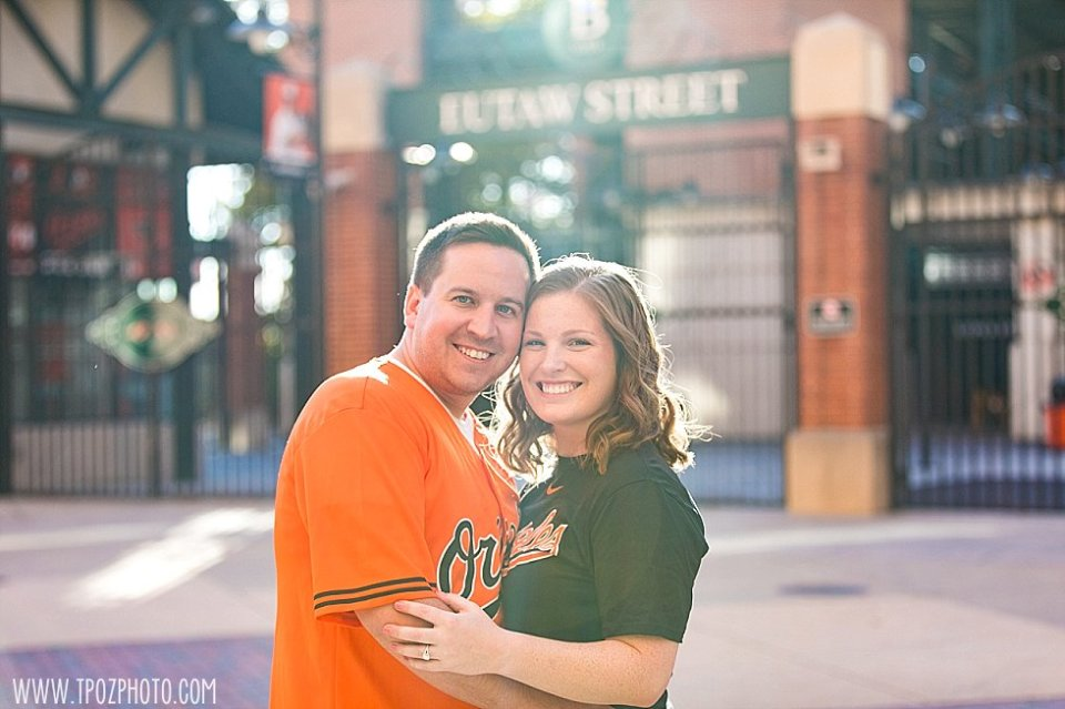 Camden Yards Engagement Session || tPoz Photography || www.tpozphoto.com