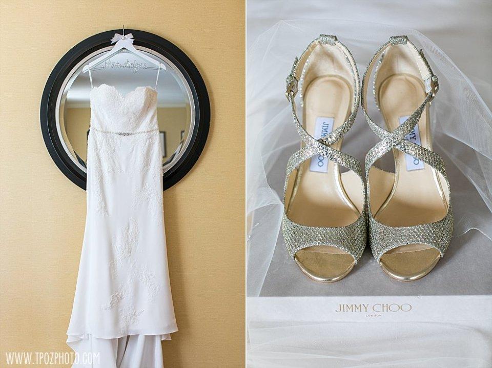 Wedding dress & Jimmy choo shoes || tPoz Photography || www.tpozphoto.com
