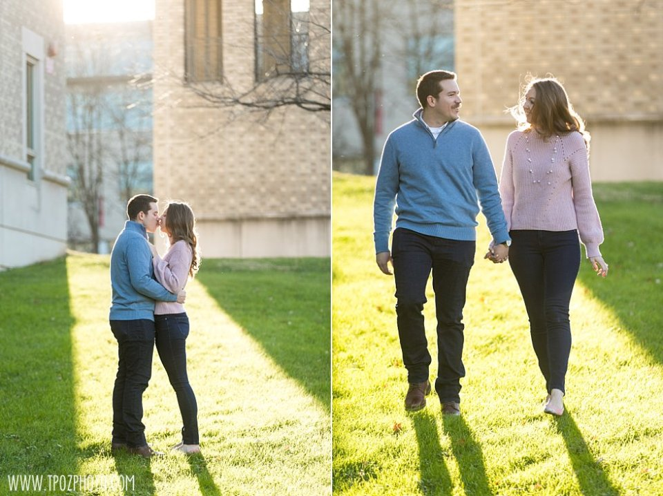 Catholic University of America Engagement Session || tPoz Photography || www.tpozphoto.com