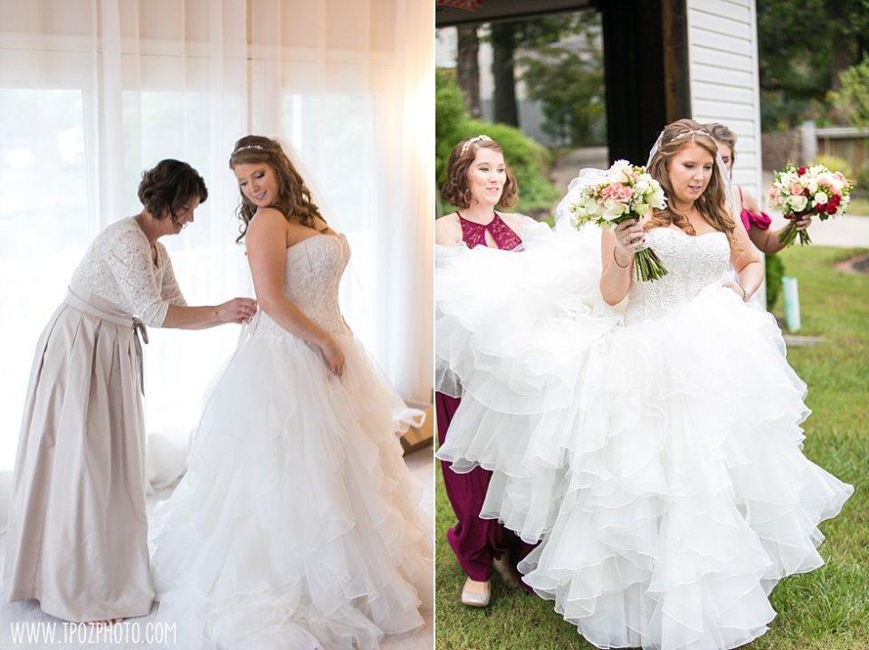 Rainy Wedding at Bleue's on the Water || tPoz Photography || www.tpozphoto.com