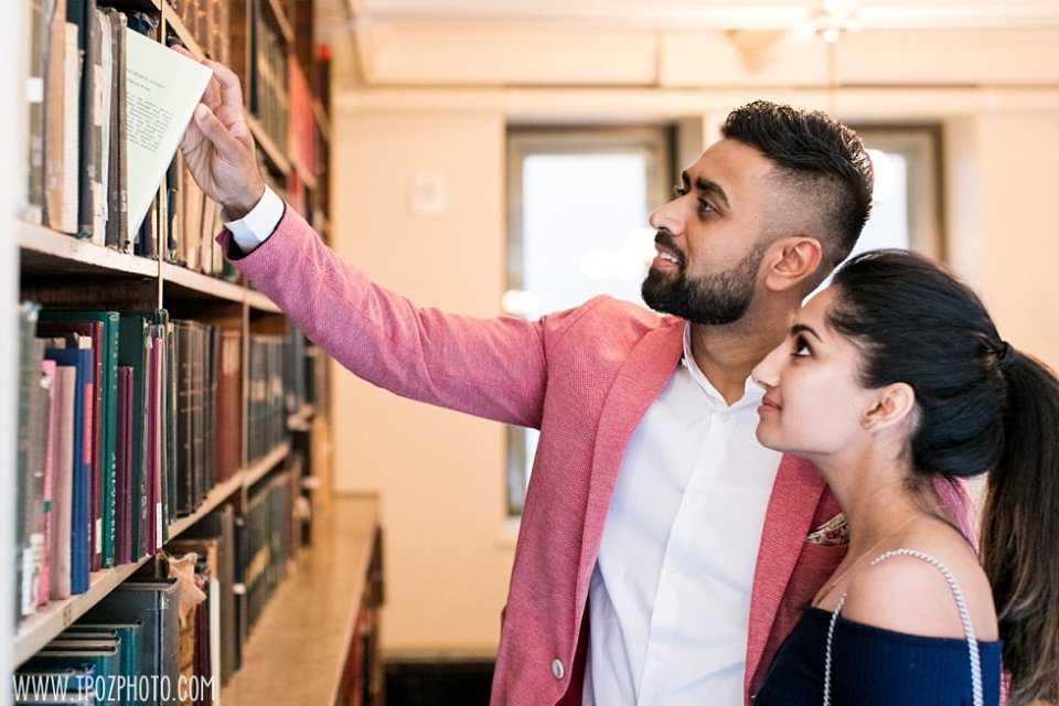 Peabody Library Engagement Proposal || tPoz Photography || www.tpozphoto.com