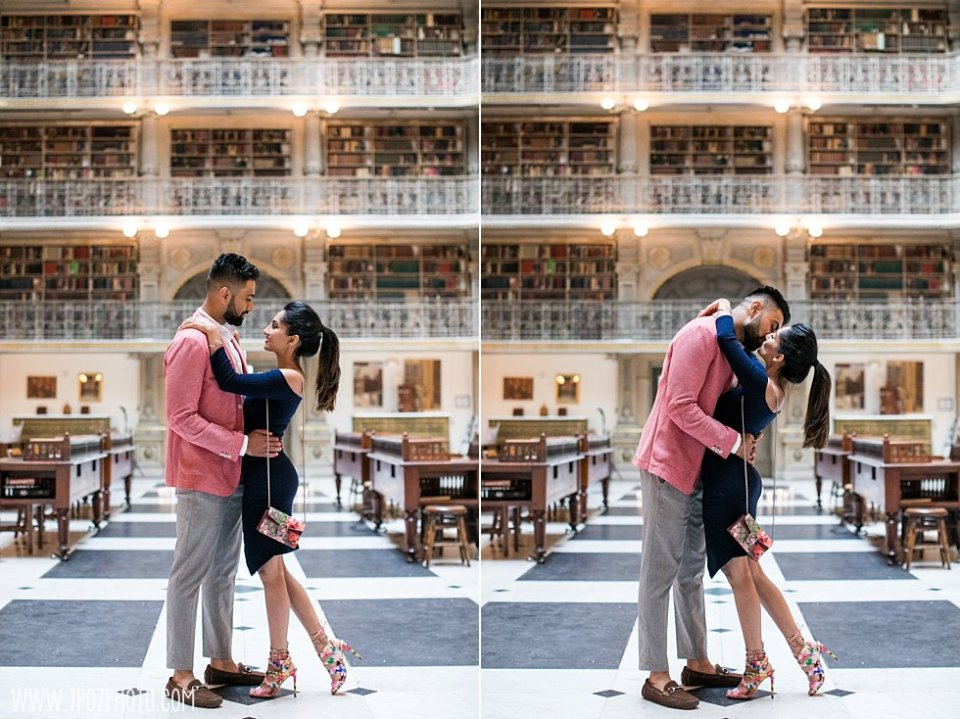 Peabody Library Wedding Proposal || tPoz Photography || www.tpozphoto.com