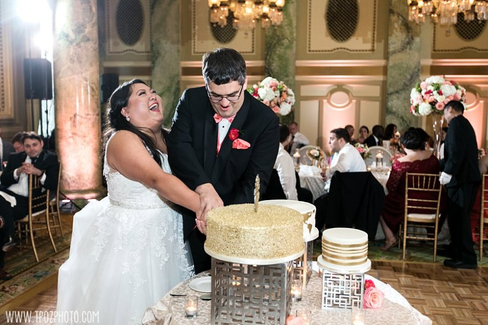 Cutting the Cake - Wedding at The Willard Hotel Washington DC  •  tPoz Photography  •  www.tpozphoto.com