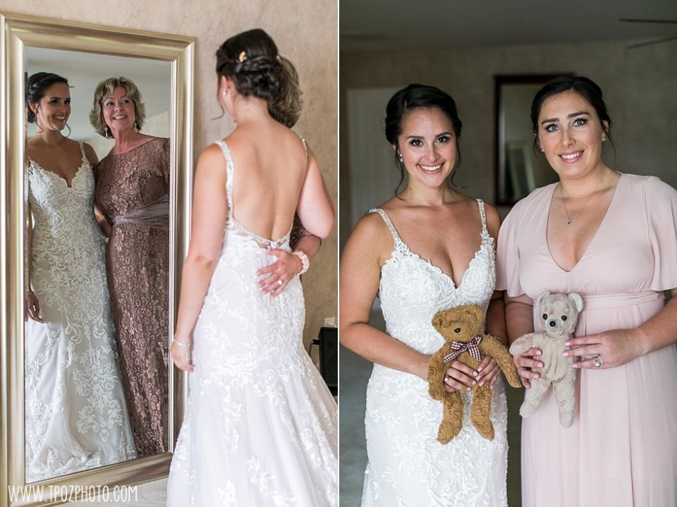 Bride and her teddy bear • tPoz Photography  •  www.tpozphoto.com