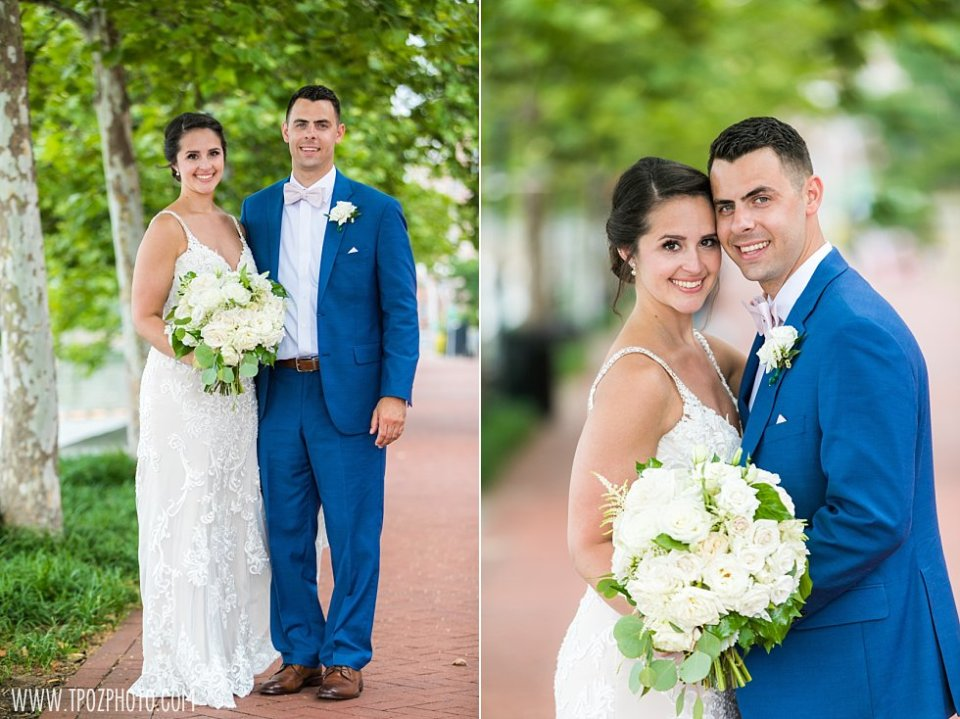 Baltimore Bride and Groom in Harbor East