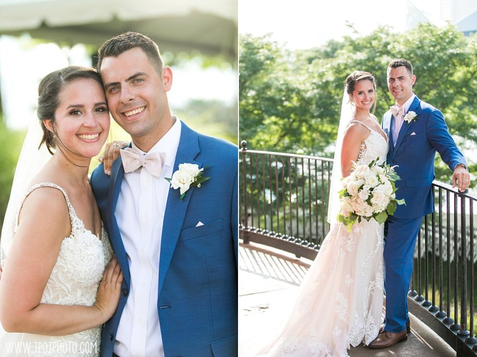 Pier 5 Lighthouse Wedding Bride and groom •  tPoz Photography  •  www.tpozphoto.com
