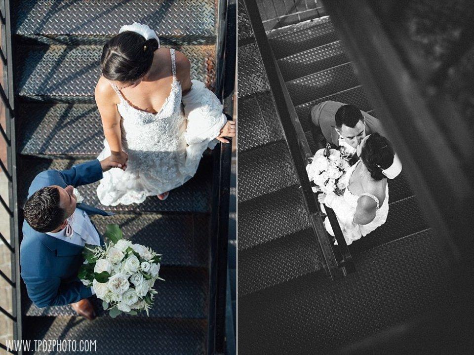 Baltimore Wedding Photos on the Lighthouse steps • tPoz Photography  •  www.tpozphoto.com