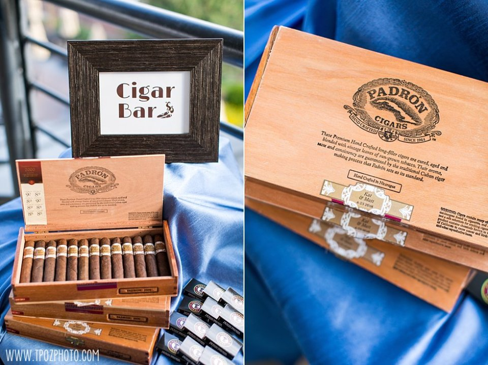Cigar Bar at a Pier 5 Wedding •  tPoz Photography  •  www.tpozphoto.com