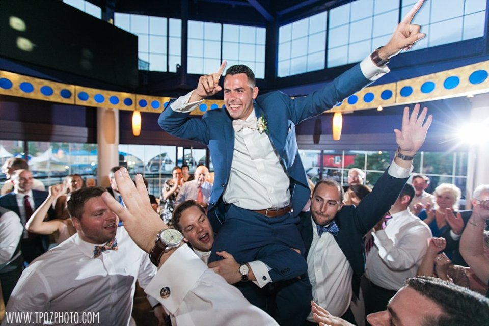 Groomsmen dancing at Pier 5 Wedding Reception •  tPoz Photography  •  www.tpozphoto.com