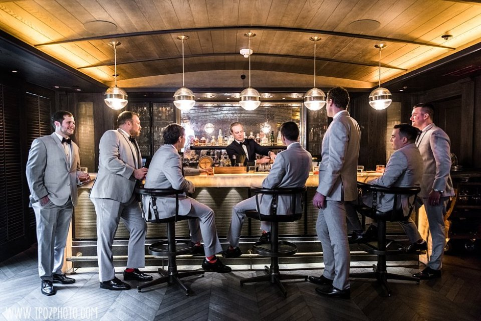 Groomsmen in the Sagamore Pendry Cannon Room • tPoz Photography • www.tpozphoto.com
