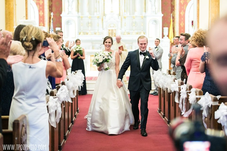 Sacred Heart of Jesus Church Wedding Ceremony in Baltimore, MD •  tPoz Photography • www.tpozphoto.com