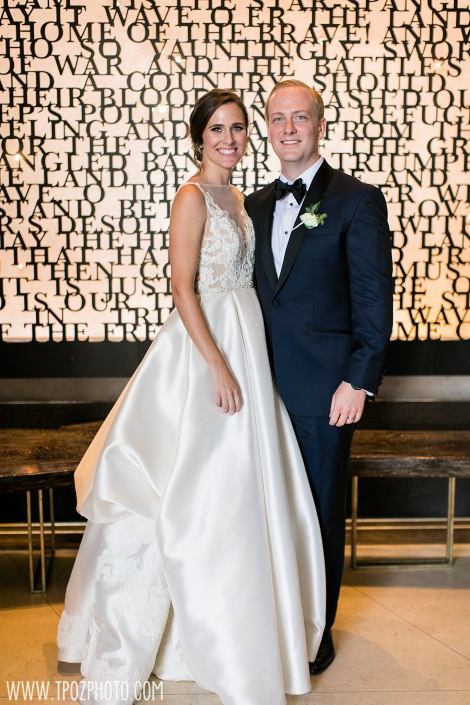 Sagamore Pendry Wedding Photos in the lobby • tPoz Photography •  www.tpozphoto.com