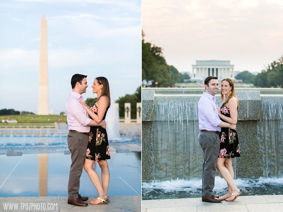 DC Lincoln Memorial Engagement Session • tPoz Photography  •  www.tpozphoto.com
