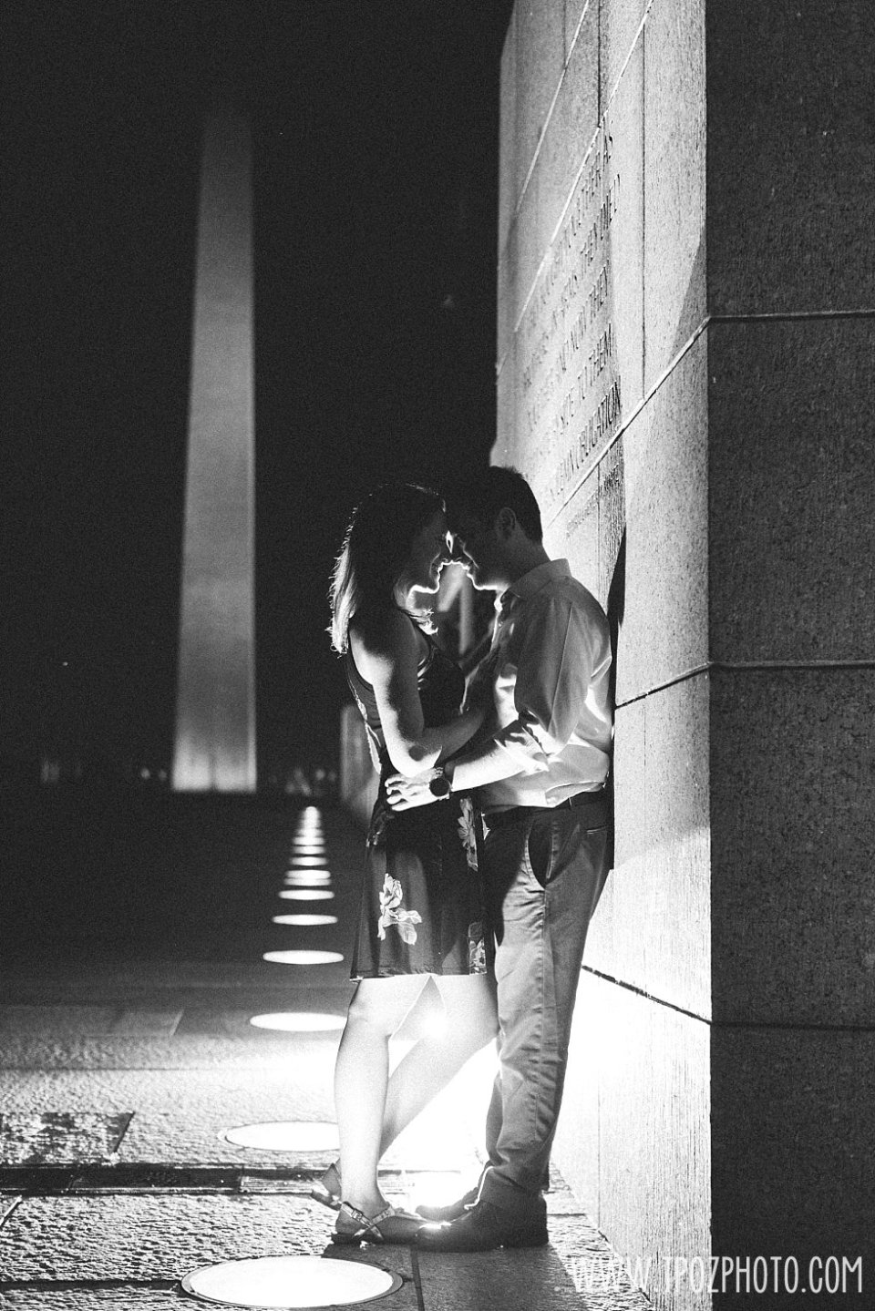 World War II Memorial Engagement Session • tPoz Photography  •  www.tpozphoto.com