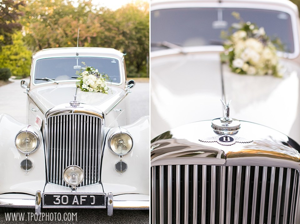 White Bentley from Lasting Impressions at a Baltimore Wedding • tPoz Photography  • www.tpozphoto.com
