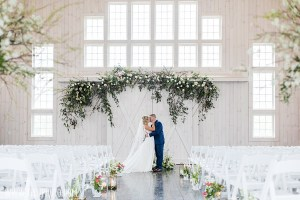 Rosewood Farms wedding ceremony in the Rustic Barn