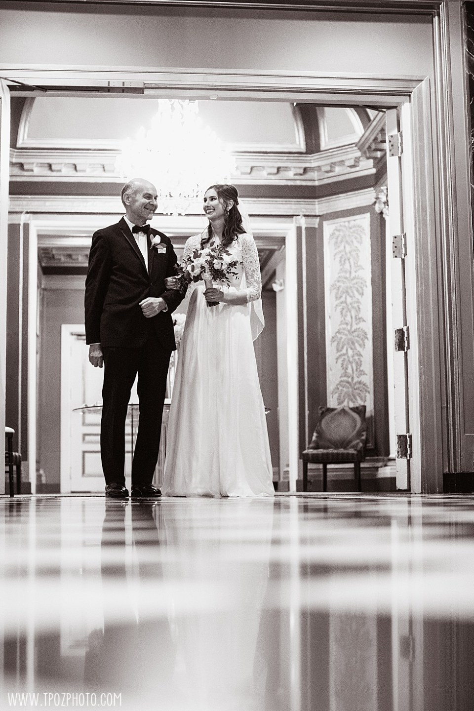 Last moments with Dad before walking down the aisle  •  tPoz Photography •  www.tpozphoto.com
