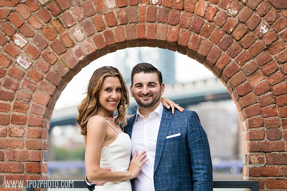 DUMBO engagement photos at Empire Stores