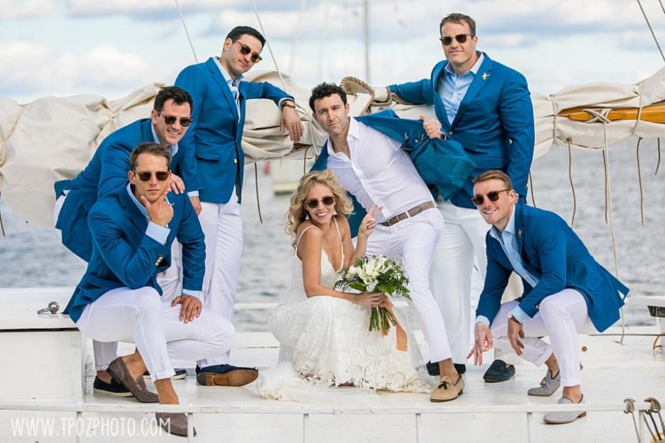 Chesapeake Bay Maritime Museum wedding on a boat