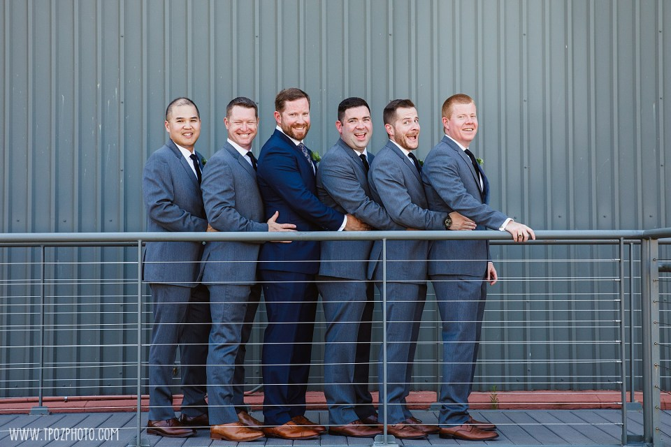 groomsmen  at a summer BMI wedding
