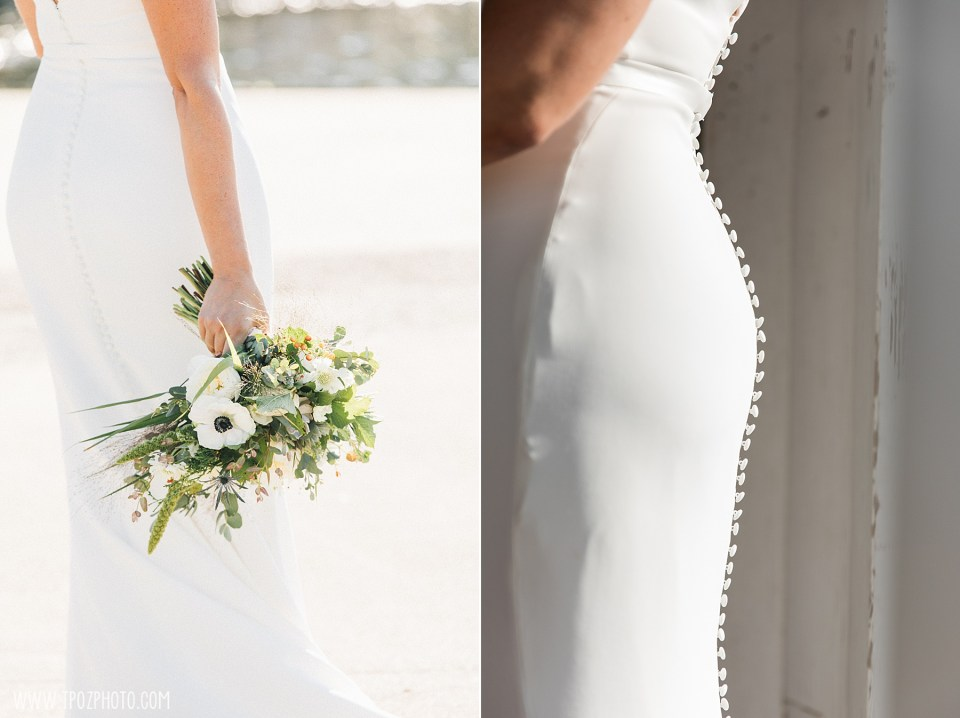 bridal bouqet at summer BMI wedding