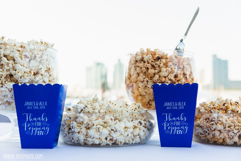 popcorn before the wedding ceremony at the BMI