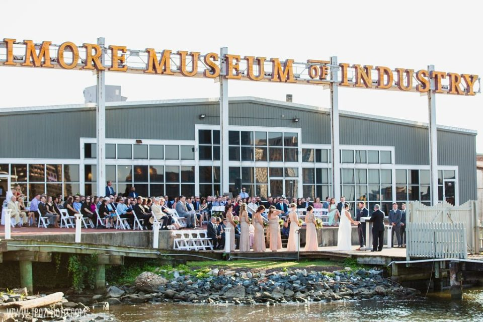 Wedding Ceremony on the Baltimore Museum of Industry Patio