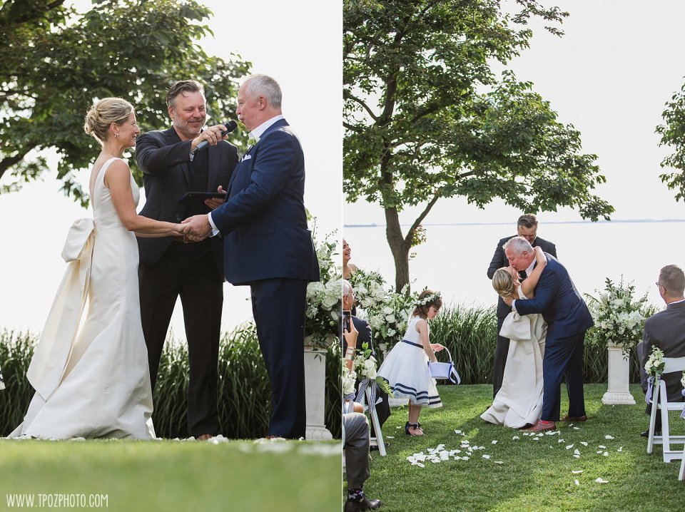 Outdoor wedding ceremony at the Chesapeake Bay Beach Club