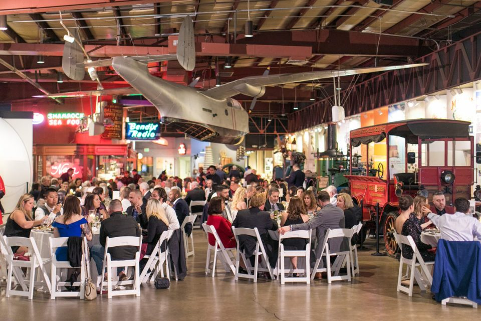 Baltimore Museum of Industry Wedding Reception Setup