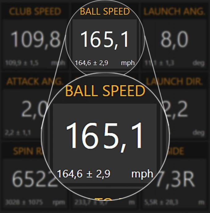 TrackMan Avg And Con