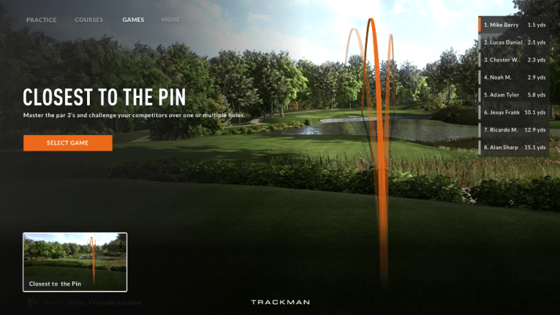TrackMan Closest to the pin