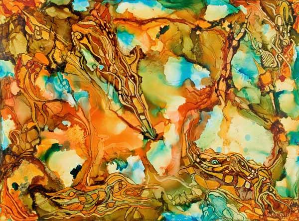 """Quadre """"Fire of the Soul"""", per al poema """"Càmera de l'ànima"""""""