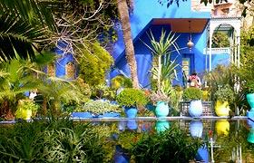 The Majorelle Garden in Marrakech