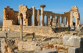 Roman ruins of Volubilis an archaeological site near to Meknes